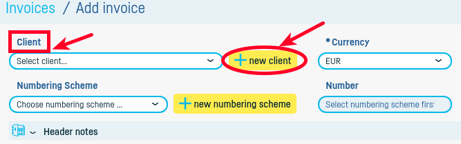 How do I add a new client? - step 4
