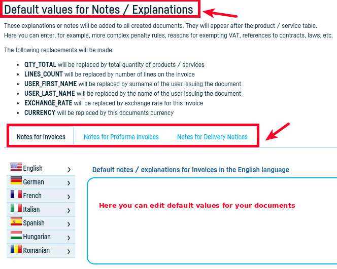How can I add the issuer to the invoice? - step 4